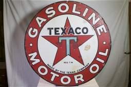 Texaco Motor Oil porcelain sign.