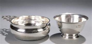 276 2 pieces of sterling hollowware Tiffany
