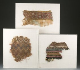 Framed Pre Columbian Style Textiles.