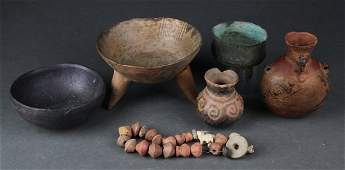 6 Pre Columbian style objects.