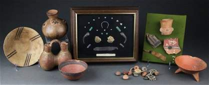 8 Pre Columbian style objects.