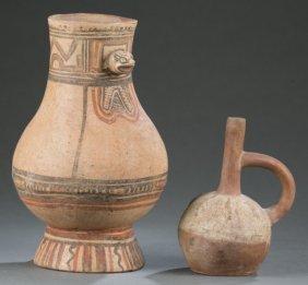2 Pre Columbian Style Vessels.