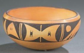 Hopi Polychrome Pottery Bowl By Mary Ami