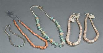 Group of bead and shell necklaces