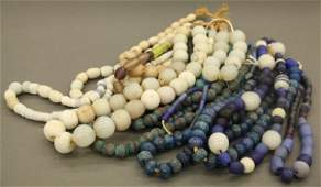 12 Strands of African glass trade beads