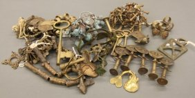 Large Group Of African Brass Ornaments.