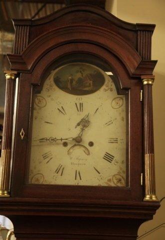 English mahogany longcase clock. 19th century.