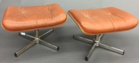 2 Eames Mid-Century modern footstools.