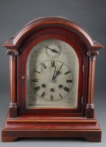 Gustav Becker Mantel Clock, c. 1878.