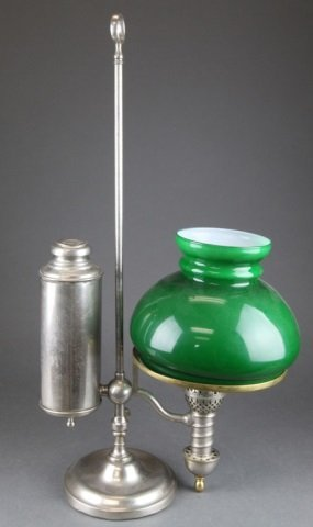 Manhattan Brass Co. Single Student Oil Lamp.
