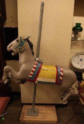 Carousel Horse attr. to Allen Herschel, c. 1920s.