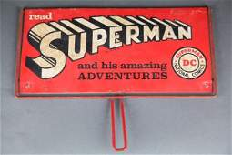 Superman and Batman double sided metal sign