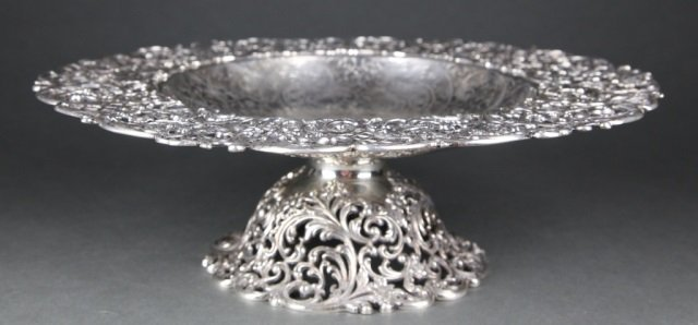 J. E. Caldwell & Co. Sterling Reticulated Compote.
