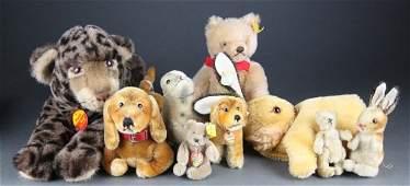 Group of 9 Stieff stuffed animals
