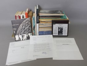 Over 26 Items Incl 3 Tlss By Buckminster Fuller.