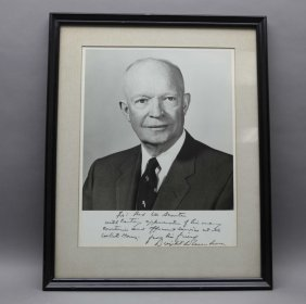 Dwight D. Eisenhower Signed & Inscribed Photograph