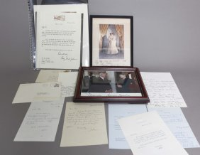 12 Signed Items: First Ladies, Nixon Family.