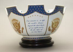 Reagan Commemorative Mottahedeh Monteith Bowl