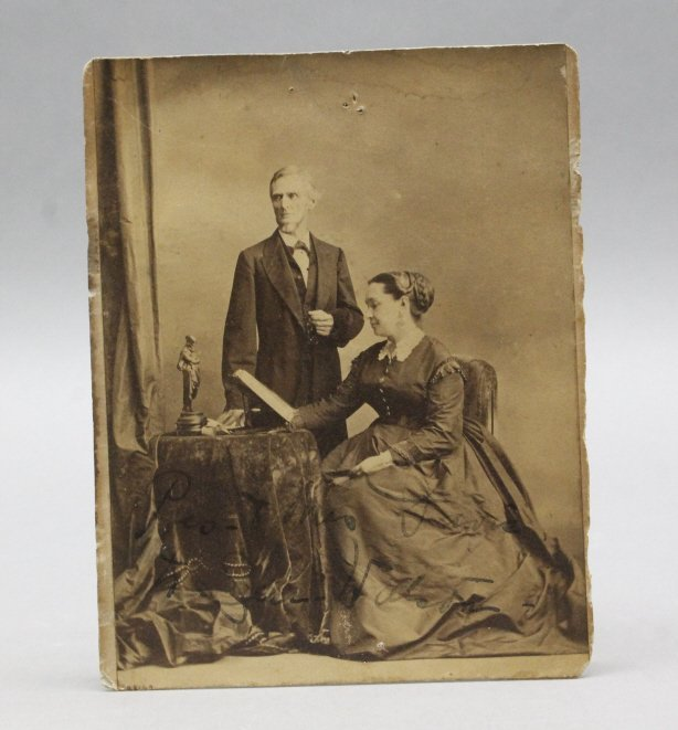 2 Albumens: Jefferson Davis & wife; Davis children - 4
