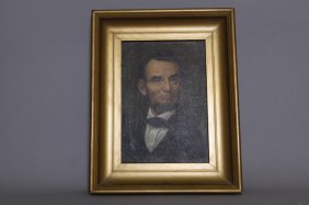 Illinois Watch Co. Lincoln Chromo Lithograph
