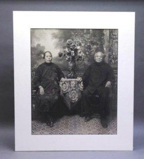 Gelatin Silver Portrait & Postcard: Asian Couples