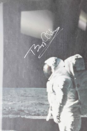 Buzz Aldrin. Signed Poster.