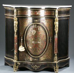 Napoleon Iii Boulle Marquetry Cabinet, 19th C.