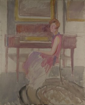 Charles Bittinger, Portrait Of A Woman, O/c.
