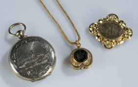 Group Of Mourning Jewelry.