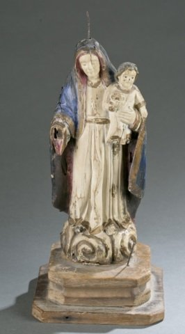 Virgin Mary And Child Santos Figure.
