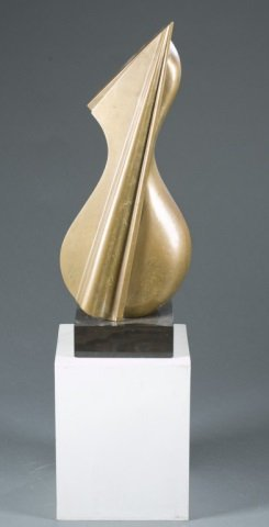 In The Style Of Denis Mitchell Bronze Sculpture.