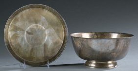 Tiffany & Co. Sterling Revere Bowl And Tray.