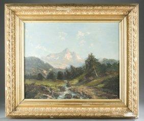 Alpine Mountain Landscape, O/c, 20th Century.