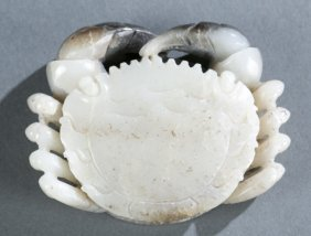 Chinese Carved Jade Crab.