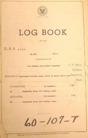 581: [Submarine Log Book]. USS GATO (SS-212). Ship's L