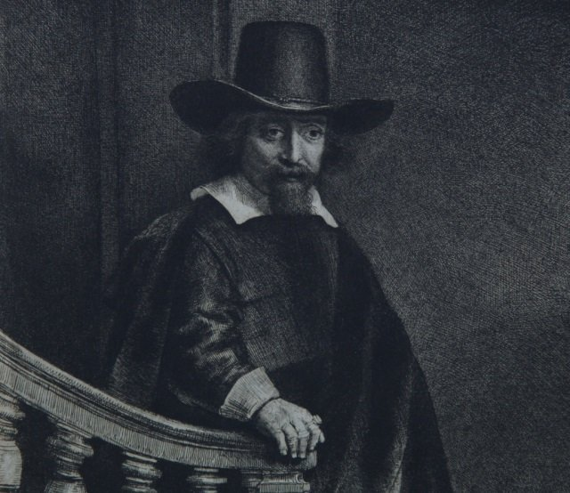 Rembrandt, Ephraim Bonus, Jewish Physician. 1647.