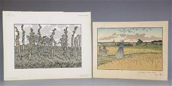 Henri Riviere selection of 4 lithographs 1896
