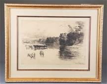 Sir Francis Seymour Haden, Lancaster River.