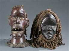 Ekoi style headdress & Dan style mask.
