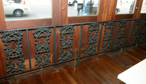 3522: Wrought iron railing with intertwing oak branches