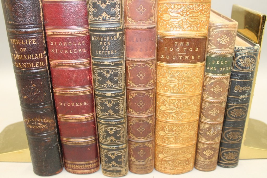 7 Books: Southey, Byron, Dickens, Milton, 3 others - 2