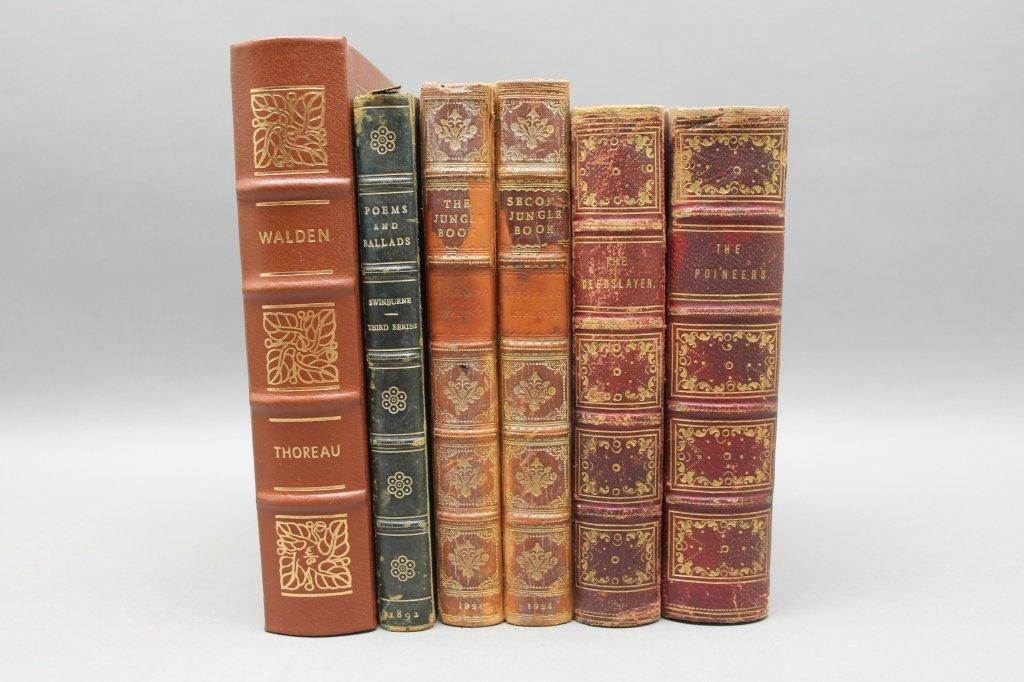 6 Books: Jungle Book, James Fenimore Cooper...