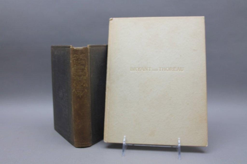2 Thoreau books incl:  A YANKEE IN CANADA... 1866.
