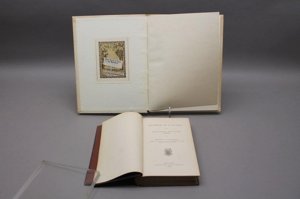 2 Thoreau books incl:  A YANKEE IN CANADA... 1866. - 3