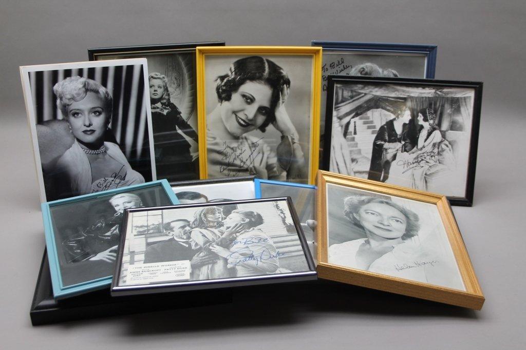 16 photos signed: Helen Hayes, Patty Duke, Neal...