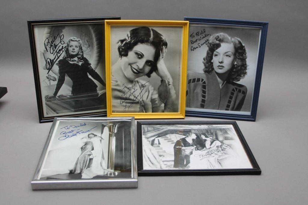 16 photos signed: Helen Hayes, Patty Duke, Neal... - 2
