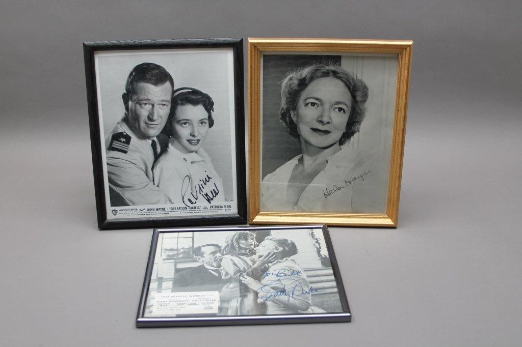 16 photos signed: Helen Hayes, Patty Duke, Neal... - 4