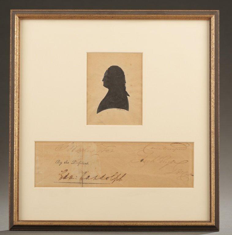 George Washington cut signature, w/ Edm. Randolph