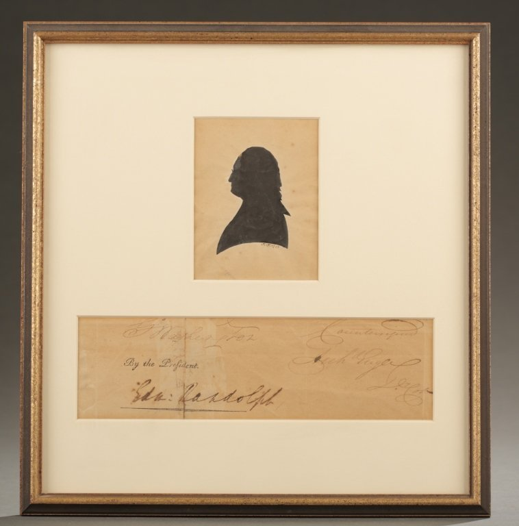 George Washington cut signature, w/ Edm. Randolph