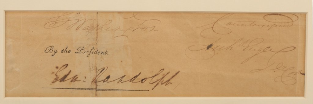 George Washington cut signature, w/ Edm. Randolph - 4